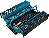 HAZET Metall-Werkzeugkoffer (mobiler Montage-Koffer, mit Profi-Sortiment, 79-teilig, mit Hammer,...