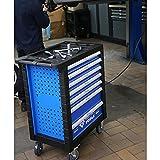 BRILLIANT TOOLS BT153207 Blau/Silber Werkstattwagen mit 7 Schubladen und 207 Premium-Werkzeugen...