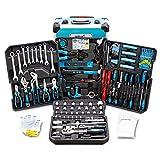 BITUXX® Werkzeugkoffer 1200 teilig Werkzeug Knarrenkasten Werkzeugkiste Werkzeugtrolley Nusskasten...
