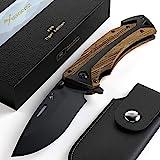 BERGKVIST® K29 Tiger Klappmesser (Einhandmesser) - 3-in-1 Taschenmesser mit Glasbrecher &...