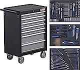 BGS 4062 | Werkstattwagen | mit 263 Werkzeugen | 7 Schubladen | gefüllt | abschließbar | massives...