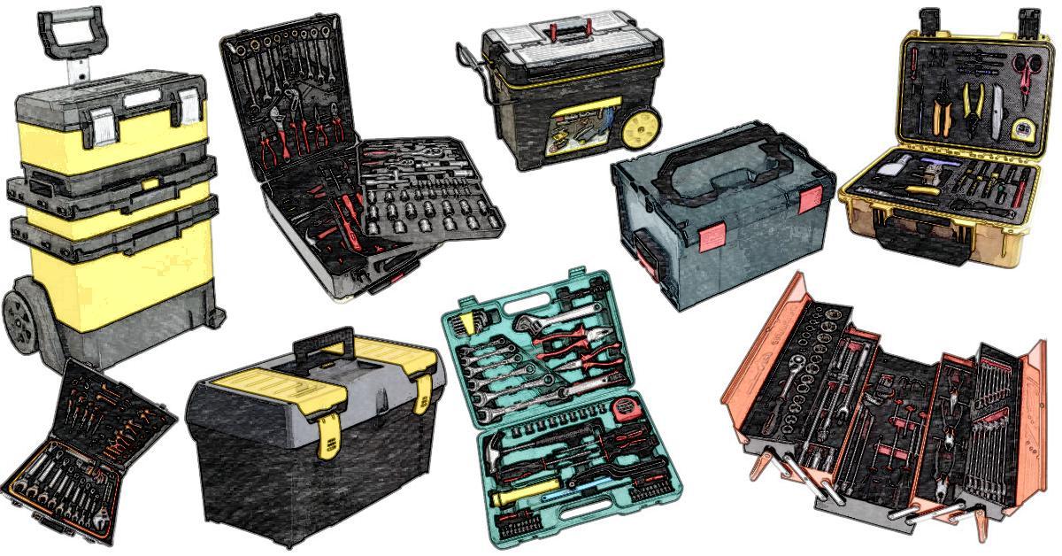 Werkzeugkoffer von Stanley, Festool, Knipex, Bosch und Makita