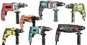 Eine Auswahl der besten Bohrmaschinen von Festool, Bosch, Dewalt, Makita, Stanley, Metabo, Milwaukee