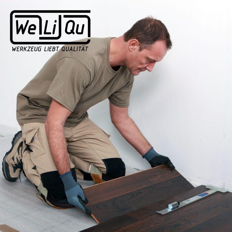 WeLiQu Knieschoner mit Kunstleder, besonders bequem, schonend zum Bodenbelag im Haushalt, abwaschbar, für Handwerk, DIY und Garten